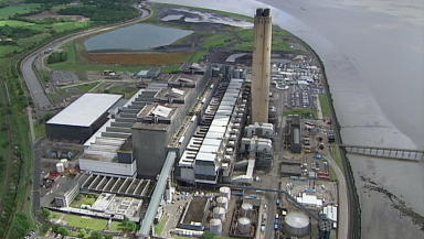 Longannet: The former power station site will be transformed into a train factory.