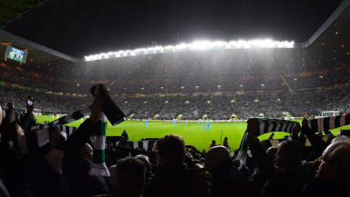 Celtic Park: Part of stadium closed for Rennes clash.