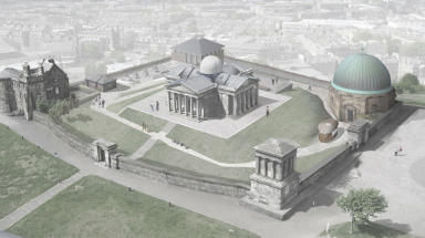 Designs for Calton Hill from Malcolm Fraser Architects, to be taken forward by Collective Architecture. Image free to use from Collective Gallery, uploaded October 2 2015