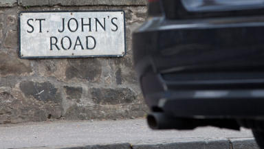 Polluted: St John's Road in Corstorphine