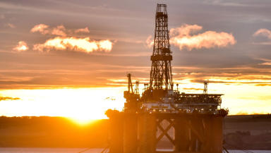 Oil Rig in Cromarty Firth invergordon sunset north sea oil generic #oilgeneric quality news image uploaded October 21 2015