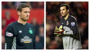 Craig Gordon (left) has paid tribute to Marton Fulop following his death aged 32