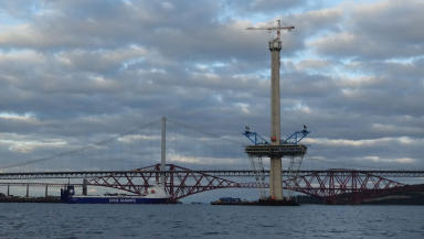 Queensferry Crossing River Forth bridge under construction news image uploaded November 13 2015