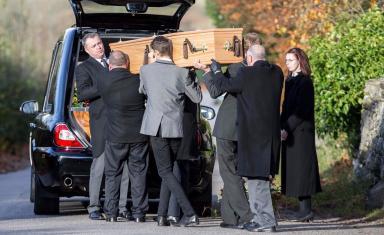 Funeral of Bailey Gwynne in Aberdeen on November 13 2015