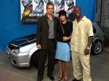 Paul Walker with Eva Mendes and Tyrese.