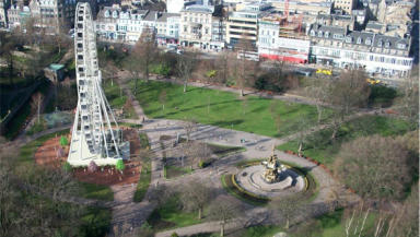 Big wheel: the 53 metre high structure will be at West Princes Street Gardens.
