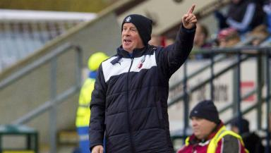 Contenders: Peter Houston's side are chasing promotion this season.