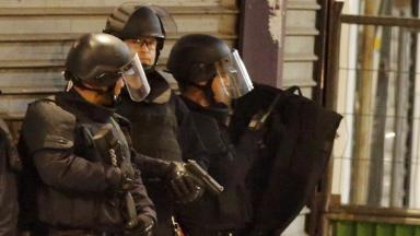 French terror police as shots as shots are exchanged in Saint-Denis.