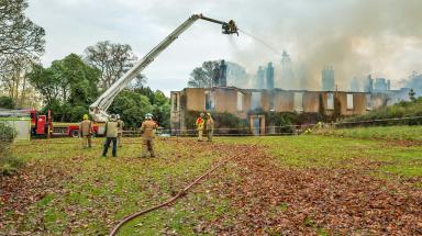 Blackhills House: Destroyed by blaze.