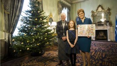 Nicola Sturgeon: Official Christmas card chosen.