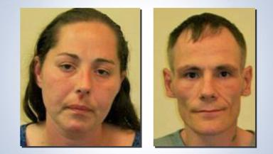 Jailed: James Cowan and Allana Wood drove their victim to an ATM.