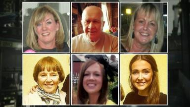 Killed: Gillian Ewing (top right) was one of the six people killed.
