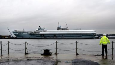 HMS Queen Elizabeth: Largest warship built in the UK.