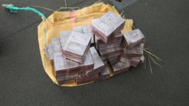 £1m worth of cannabis seized by a Royal Navy warship