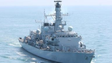 HMS St Albans was on hand to seize the drugs