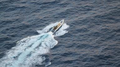 A small boat involved in the HMS St Albans drugs seizure