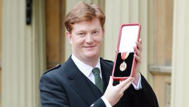 Danny Alexander: Awarded a knighthood at Buckingham Palace.