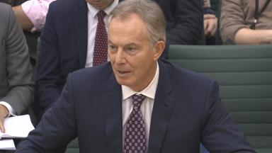 Mr Blair speaking to the Commons Foreign Affairs Committee