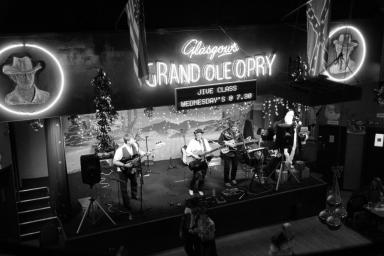 Gun Slingers: The Grand Ole Opry was home to the Glasgow Gunslingers, a famous gun club in the late 80's.