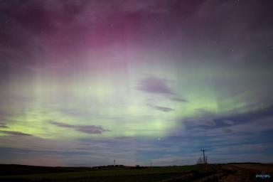 Aurora: Debbie Beer captured Northern Lights from bathroom window.