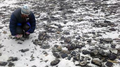 Bronze Age: Experts at settlement on Sanday, Orkney.