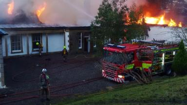 Boleskine House: Loch Ness mansion destroyed by fire.