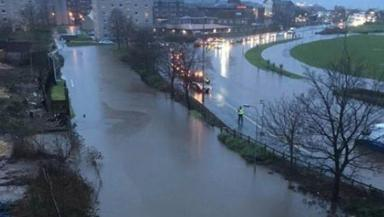 Major flooding during Storm Frank in Greenock on Wednesday December 30, 2015. Image from Twitter user @linzd17x