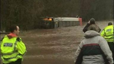 Flooding: Bus caught in water in Dailly.