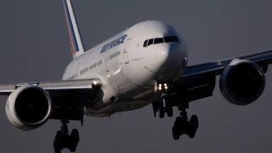 Air France: The flight was forced to divert to Glasgow.