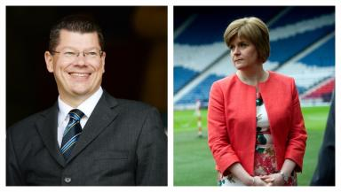Talks: SPFL chief executive Neil Doncaster and First Minister Nicola Sturgeon.