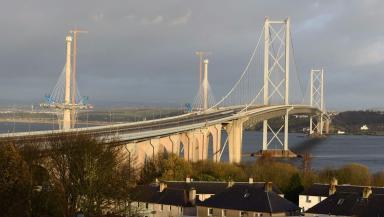 Repairs: Forth Road Bridge was closed in December