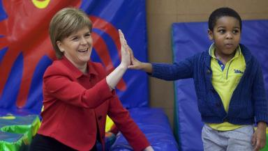 Nicola Sturgeon: During visit to nursery