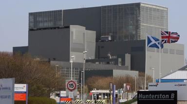 Hunterston B: Nuclear power station was affected.