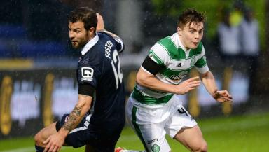 Head-to-head: Richard Forster (left) could come up against James Forrest at Hampden.