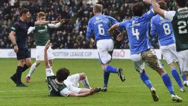 Controversy: Liam Henderson was awarded a spot kick.