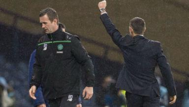 Dejection for Celtic manager Ronny Deila.