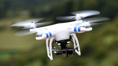 Drone: Latest in a series of near misses at Scottish airports (file pic).