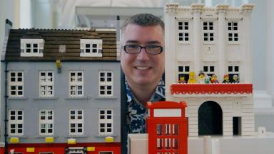 For the love of Lego: Warren's Lego fascination stretches back to his childhood.
