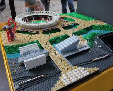 Olympic Park: This model was made for the London 2012 games.