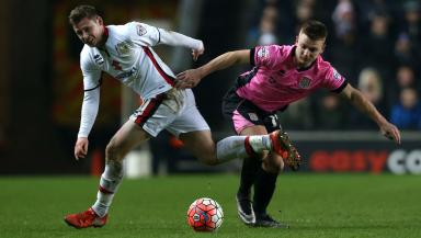 New arrival: Simon Church in action for MK Dons.