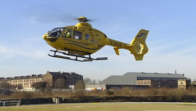 Air Ambulance: Dispatched after man crushed by falling tree.