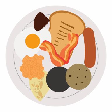 Kayleigh came up with a selection of emojis, including this full Scottish fry-up.