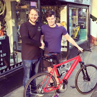Pedal power: Josh has taken up cycling for Tartan Explorer challenge.