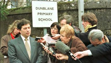 Ron Taylor: Head teacher addresses the press.