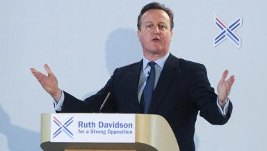 David Cameron: The Scottish Conservatives are campaigning to become the official opposition
