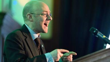 Scottish Greens: Party co-convener Patrick Harvie is one of the three candidates.