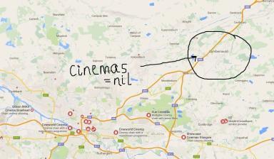 Cinemas? Not in Cumbernauld.