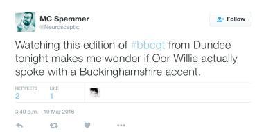 @neurosceptic tweet on Question Time