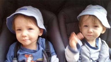 Tragic: Twins Rhys and Shaun Scott.