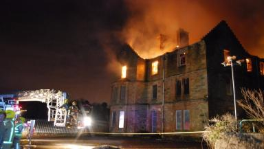 Flames: The blaze burned for several hours.